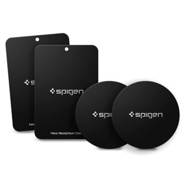 Spigen Kuel MP-4P Car Mount Metal Plates, black